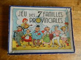 SUPER RARE: JEU DES 7 FAMILLES PROVINCIALES ANNEES 50 COUVERCLE  BOITE PAR ILLUSTRATEUR -COMPLET DOS DE CARTES BLANC - Jugetes Antiguos