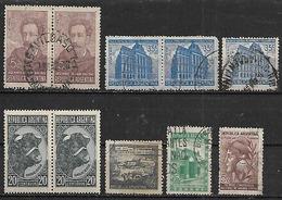 1942-3 Argentina Toro-personajes-correo Y Telecomunicaciones(telegrafo)-independencia-ahorro 10v.parejas - Argentina