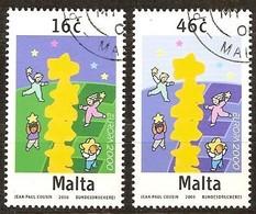 Cept 2000 Malta Malte Yvertn° 1100-01  (°) Oblitéré Cancelled Cote 5 € - 2000