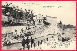 CPA Cartolina Postale Repubblica Di S. MARINO : Convento GARIBALDI Si Rifugio ° Edizione Bazar Emporio Rimini * San - San Marino