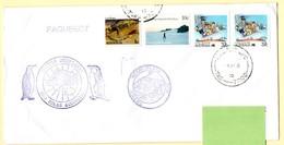 Polaire AAT, Australie. 1990. Cachet Aurora Australis Et Heard Island. Timbres AAT Et Australie. Cachet à Date Hobart. - Research Programs