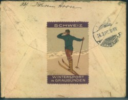 """1909, Brief Von AROSA Rückseitig Vignette""""Wintersport In Graubünden"""" - Sin Clasificación"""