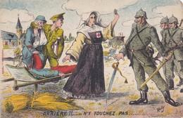 Arrière N'y Touchez Pas Infirmière Blessé - Guerre 1914-18