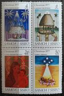141.SAMOA 1977 SET/4 STAMP CHRISTMAS  .  MNH - Samoa