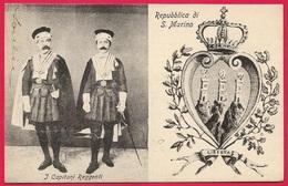 CPA Cartolina Postale Repubblica Di S. MARINO : I Capitani Reggenti ° Edizione Bazar Emporio Rimini * San - San Marino