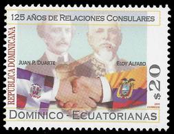 Dominicaine Dominicana 1704 Ecuador , Présidents, Drapeaux - Gemeinschaftsausgaben