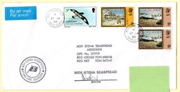 Polaire Falklands & South Georgia. Cachet MSV Stena Seaspread + Signature. Cachet à Date King Edouard South Georgia. - Research Programs