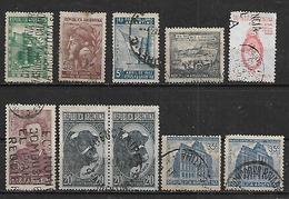 1942-3 Argentina Toro-escudo-correo Y Telecomunicaciones(telegrafo)-independencia-ahorro-feria Del Libro10v. - Argentina