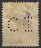 Regno D'Italia, 1923, Perfin, C.I, Su Vittorio Emanuele III, Michetti A Sin. 60c. Dentellatura Spostata, Usato - 1900-44 Vittorio Emanuele III