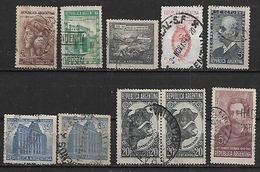 1942-3 Argentina Toro-escudo-correo Y Telecomunicaciones(telegrafo)-independencia-ahorro-Estrada 10v. - Argentina