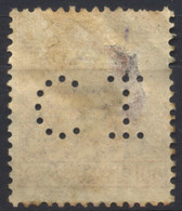 Regno D'Italia, 1923, Perfin, C.I, Su Vittorio Emanuele III, Michetti A Sin. 60c., Usato - 1900-44 Vittorio Emanuele III