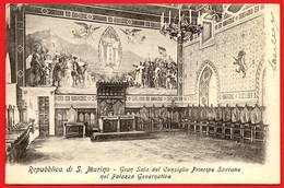 CPA Cartolina Postale Repubblica Di S. MARINO : Gran Sala...Palazzo Governativo ° Edizione Bazar Emporio Rimini * San - San Marino