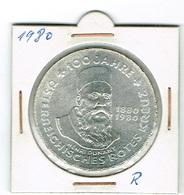 Republik Osterreich 500 Schilling Arg.ROTES KREUZ 100Jahre 1980 - Austria