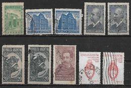 1942-3 Argentina Toro-escudo-correo Y Telecomunicaciones(telegrafo)-independencia-Estrada 10v. - Argentina