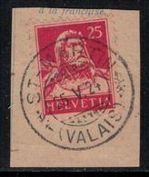 Suisse // Schweiz // Non Classée // Valais //  Oblitération Valaisanne Sur Fragment, St-Martin - Ohne Zuordnung