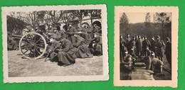Luserna S. Giovanni Torino Artiglieri Manovre In Piazza Cannone E Proiettili Foto Fine Anni 30 - Guerre, Militaire