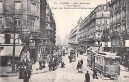 75 - PARIS 2 ème  Rue Réaumur Vers Opéra / Angle Du Bld Sébastopol ( Bon Plan Tramway ) CPA Non Circulée (Ed JH N° 72 ) - Arrondissement: 02