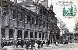 75  PARIS 19eAR    SERIE TOUT PARIS  SORTIE DE L'ECOLE DES FILLES RUE BOLIVAR - Arrondissement: 19