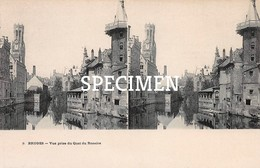 3 Vue Prise Du Quai Du Rosiare- Stereo - Bruges - Brugge - Ledegem
