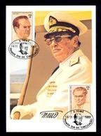 Sao Tome And Principe 1981 - MC Card With Image Of TITO. Commemorative Stamp And Cancel. - São Tomé Und Príncipe