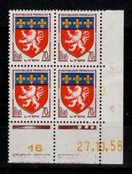 Coin Daté - YV 1181 N** Du 27.10.58 , 3 Points - Ecken (Datum)