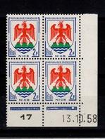 Coin Daté - YV 1184 N** Du 13.10.58 , 1 Point - Ecken (Datum)
