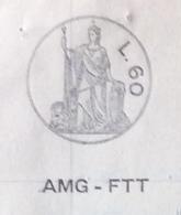 TRIESTE AMG FTT - CARTA BOLLATA L. 60 (1951)+ MARCHE DA BOLLO - ATTO DI PRECETTO CAMBIARIO - DOCUMENTO COMPLETO 19/1/52 - 7. Triest