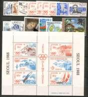 Wallis Et Futuna (1988) N 375 A 384 Et PA 160 A 164 + BF 3 - Wallis Und Futuna