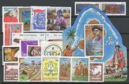 Wallis Et Futuna (2007) N 672 A 690 Et BF 22 - Unused Stamps