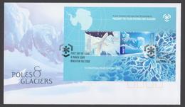 AUSTRALIE AAT 2009 FDC Pôles Et Glaciers (minisheet) - FDC