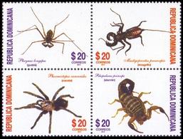 Dominicaine Dominicana 1748/51 Araignées, Scorpions, Spider - Insectes