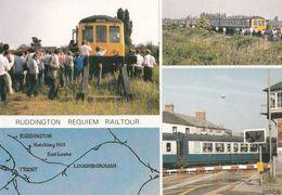 Ruddington Railway Railtour Map 1984 Rail Closure Train Nottingham Postcard - Ferrovie