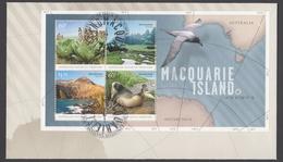 AUSTRALIE AAT 2010 FDC Macquarie Island (minisheet) - FDC