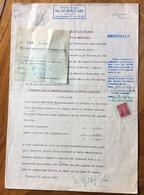 TRIESTE AMG FTT - CARTA BOLLATA L.100 (1953)+ MARCHE DA BOLLO - ATTO DI PRECETTO CAMBIARIO - DOCUMENTO COMPLETO 29/4/54 - 7. Triest