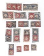 Alllemagne - Empire - 1872 - Sur Fragments - Lot De 31 Timbres De 1 Et 2 Groschen  - Petits Et Gros écussons - Lot 2 - Gebraucht
