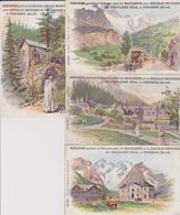4 Cartes Publicitaires Chicorée Et Chocolat DROULERS à Fresnes (La Grave - Chartreuse - Lautaret - Dauphiné - Tamagno) - Rhône-Alpes