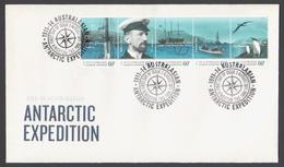 AUSTRALIE AAT 2011 FDC Australasian Antarctic Expedition 1911 Departure & Journey - FDC