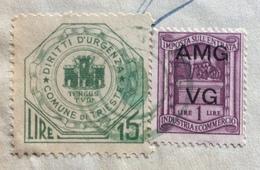 TRIESTE AMG FTT - MARCHE DA BOLLO E MARCHE COMUNALI SU DOCUMENTO : COMUNE DI TRIESTE  10 NOVEMBRE 1947 - 7. Triest