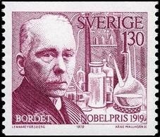 Sweden 1979 MNH, Jules Bordet Nobel Medicine Winner In 1919 - Nobelpreisträger