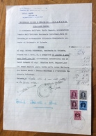 TRIESTE AMG FTT - AMG VG - MARCHE DA BOLLO SU DOCUMENTO : TRIBUNALE  DI TRIESTE : CITAZIONE  TESTE  20/12/47 - 7. Triest