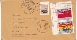 CANADA ENVELOPPE CIRCULEE DE MONTREAL A SANTO DOMINGO, REPUBLIQUE DOMINICAINE ANNEE 1983 -LILHU - 1952-.... Règne D'Elizabeth II