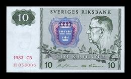 Suecia Sweden 10 Kronor 1983 Pick 52e SC UNC - Suecia