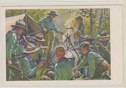Pfadfinder Am Lagerfeuer      (A-219-200113) - Scoutismo
