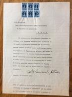 TRIESTE  - AMG FTT - MARCHE DA BOLLO SU DOCUMENTO : MUGGIA 16 NOVEMBRE 1947 - 7. Triest
