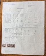 TRIESTE  - AMG FTT - MARCHE DA BOLLO SU DOCUMENTO : ESTRATTO CONTO SOC. IMBOTTIGLIAMENTO BEVANDE  7/9/51 - 7. Triest