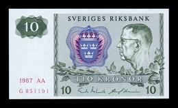 Suecia Sweden 10 Kronor 1987 Pick 52e SC UNC - Suecia