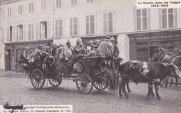 Le Dernier Convoi De Blessé évaquant La Ville Vache Chariot - War 1914-18