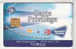 CINÉCARTE - CARTE CINÉMA - Majestic - Beauvais Cinéma - Carte Privilège - Movie Cards