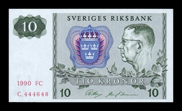 Suecia Sweden 10 Kronor 1990 Pick 52e SC UNC - Suecia
