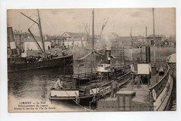 - CPA LORIENT (56) - Le Port 1911 - Débarquement Du Vapeur Faisant Le Service De L'Ile De Groix - - Lorient